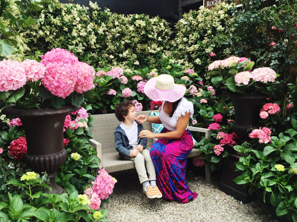 Roger's Gardens invited all mothers for a picture opportunity and each received one of their gorgeous rose bloom!