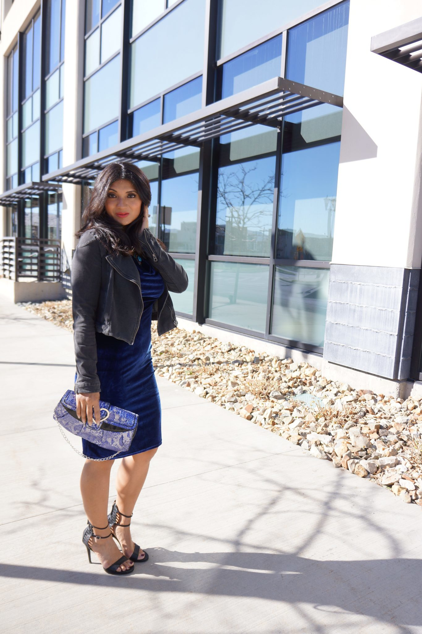 To Thine Own Style Be True | Blue Velvet Dress