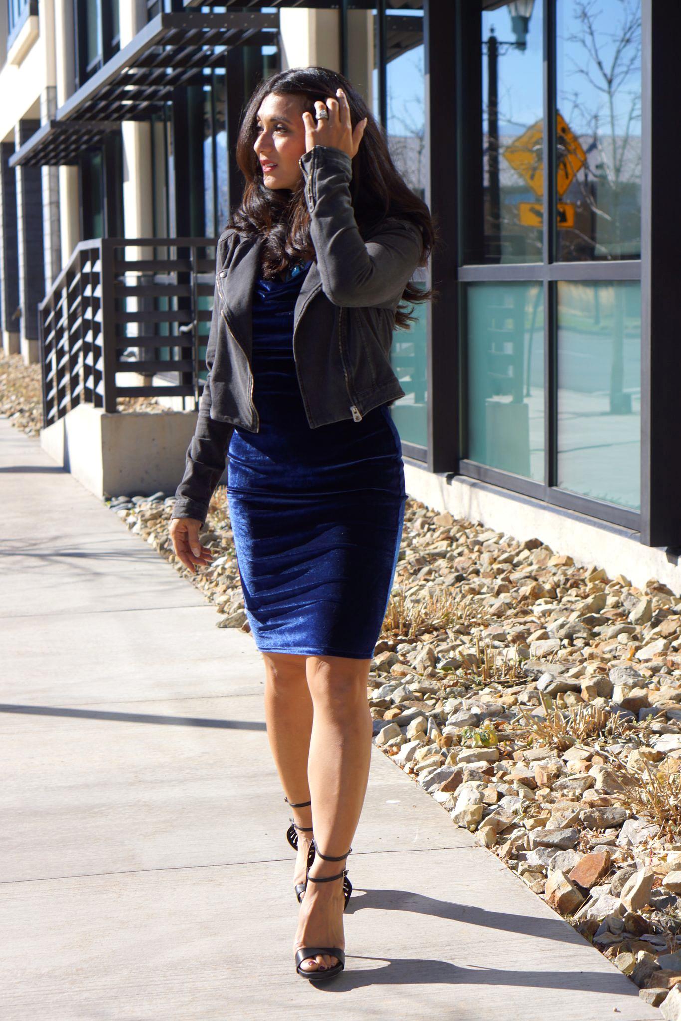 To Thine Own Style Be True   Blue Velvet Dress