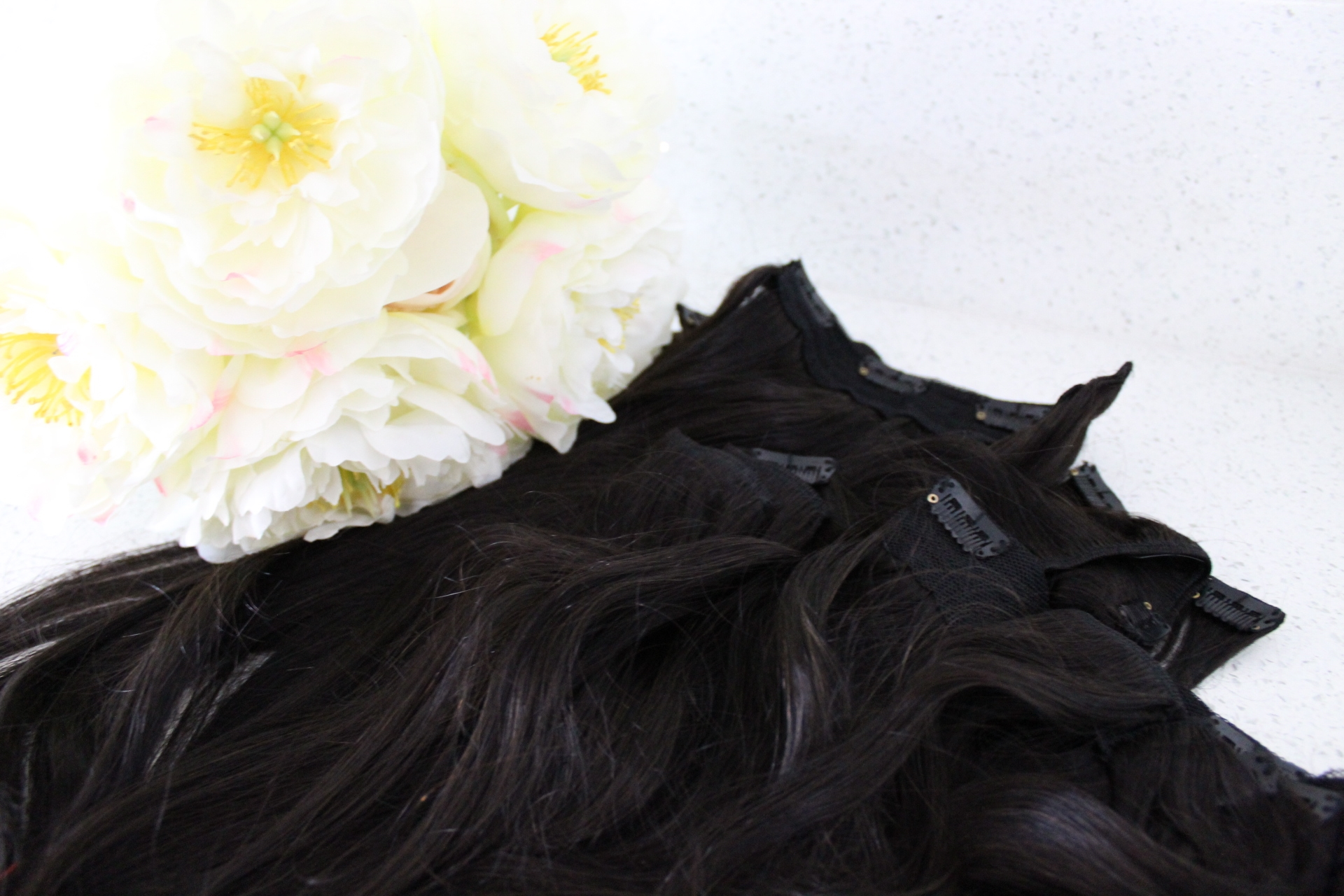 Lifestyle Blogger Debbie Savage of To Thine Own Style Be True Sharing Her Review of Irresistible Me Clip-In Hair Extensions