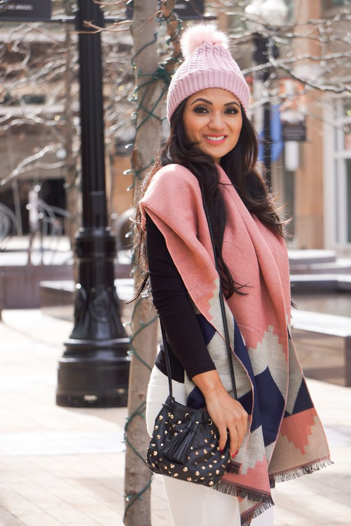 Debbie Savage of To Thine Own Style Be True Loves IlyMix's Blanket Scarf and Beanie + Plus Enter to Win $350 Worth of Derma MD Skincare