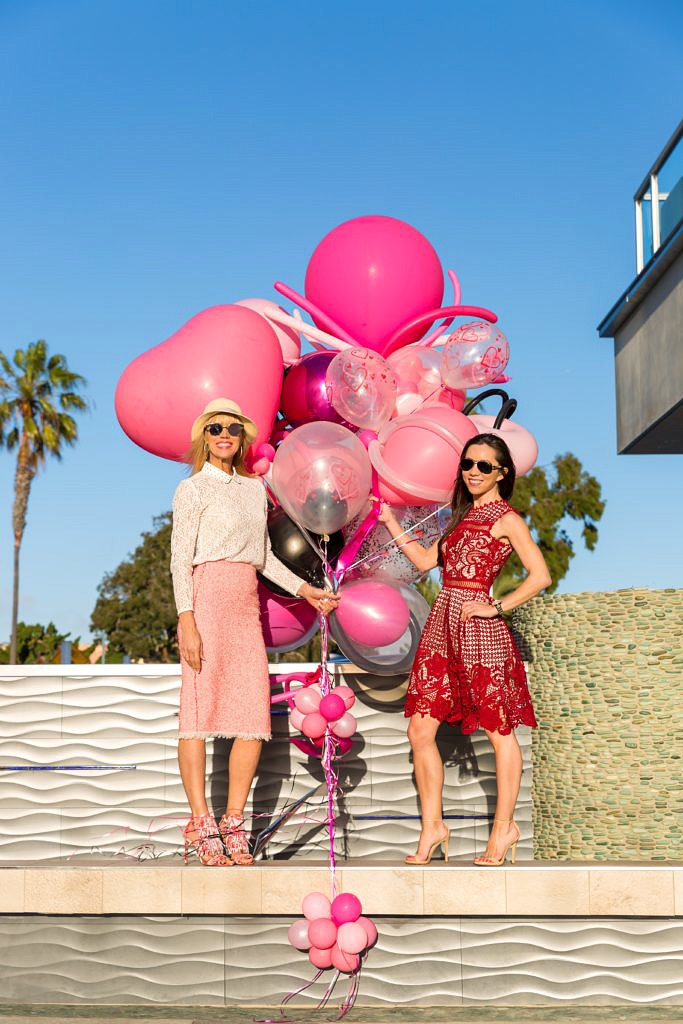 Debbie Savage of To Thine Own Style Be True at Style Collective's Valentine's Day Lunch Event at Shade Hotel in Redondo Beach, California