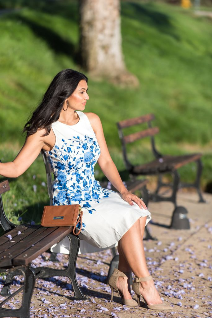 Debbie Savage of To Thine Own Style Be True Wearing Maggy London Dress