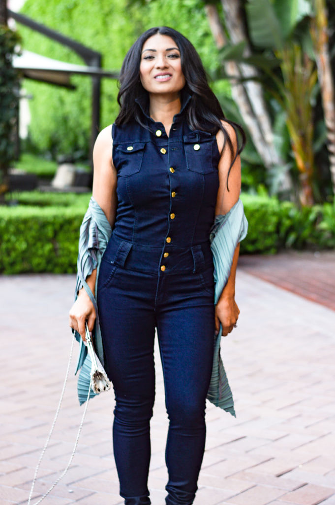 Dark Wash Denim Jumpsuit on To Thine Own Style Be True