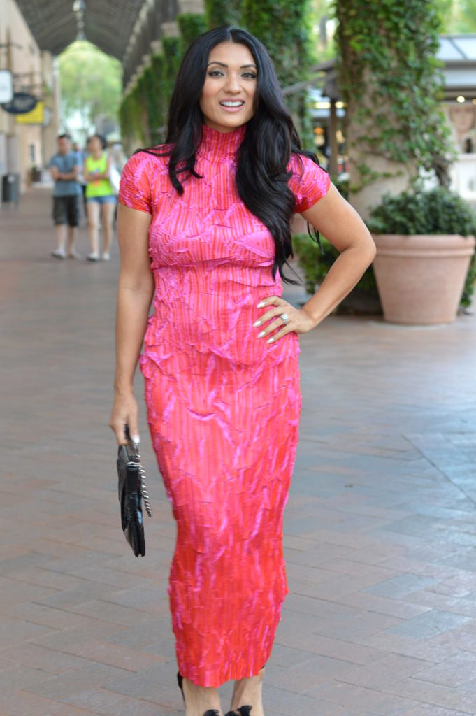 Debbie Savage of To Thine Own Style Be True Wearing a Masaki Matsuka Dress