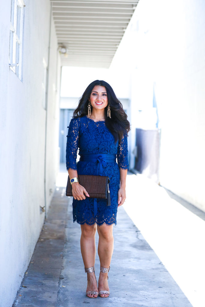 Elegant Lace + Royal Blue = Confidence with StyleWe
