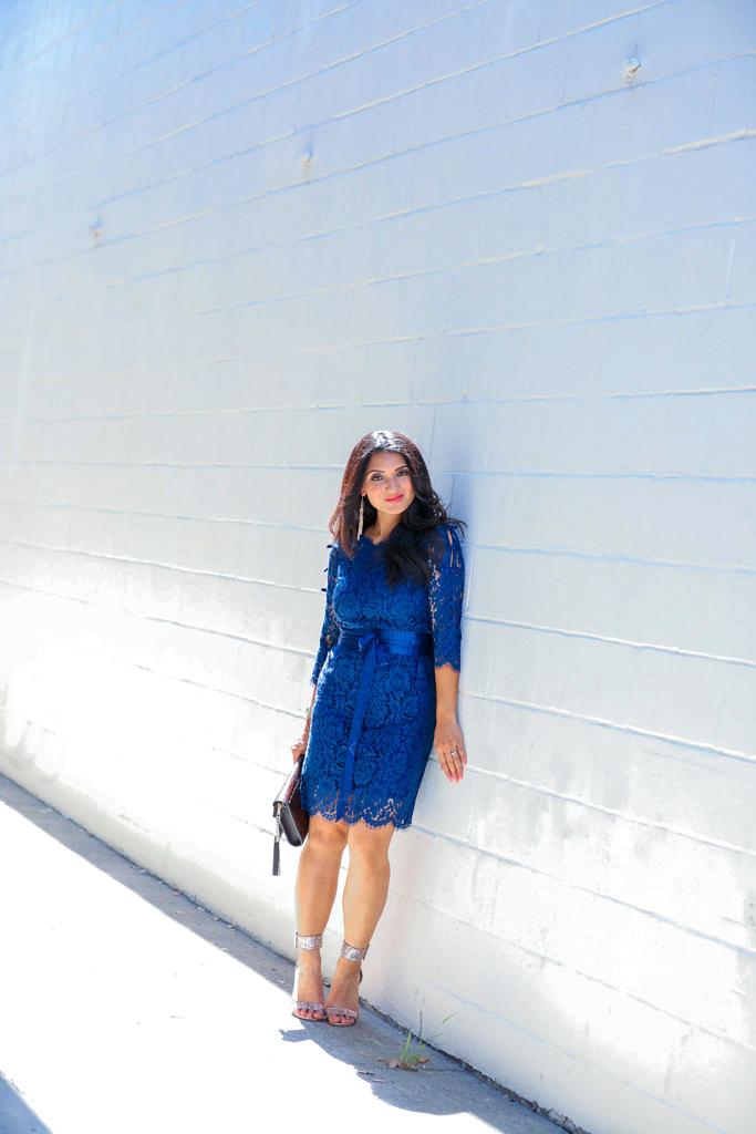 Elegant Lace + Royal Blue = Happy with StyleWe