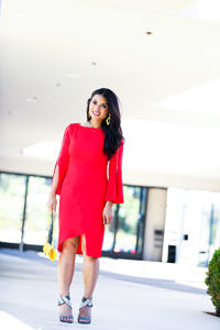 Red Bell Sleeve Sheath Dress + Friday the 13th Meaning