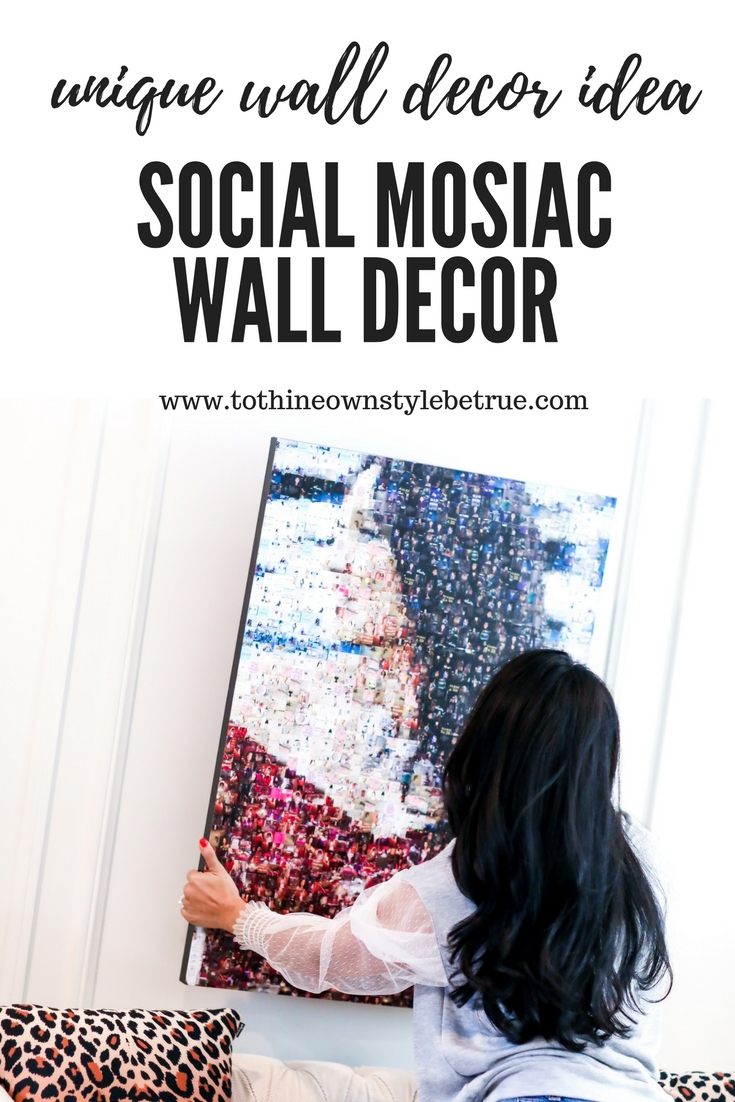 Unique Wall Decor Idea: Social Photo Mosaic Wall Decor by popular lifestyle blogger To Thine Own Style Be True