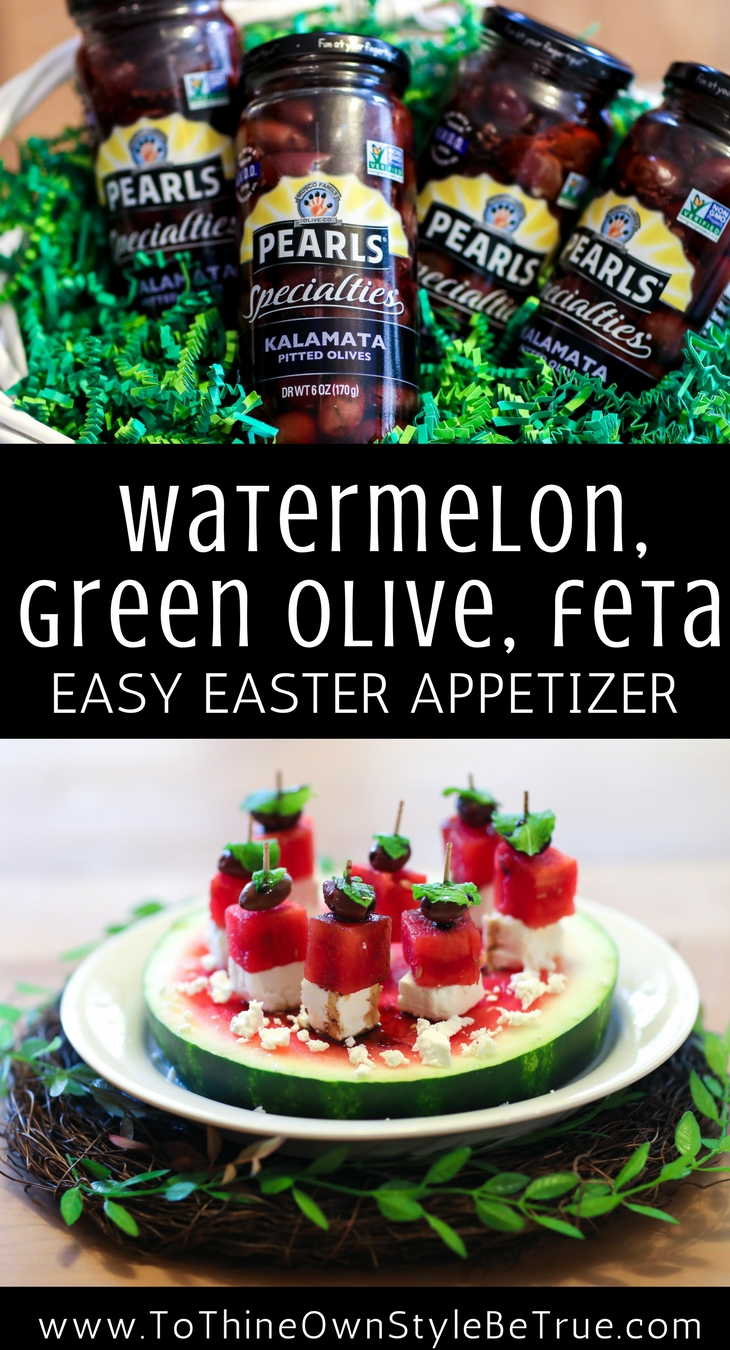 Easter appetizer made easy by using Pearl Specialties delectable green olives. Debbie Savage of To Thine Own Style Be True is sharing her favorite recipe for a simple, sweet, and savory Easter appetizer. Check out the recipe now!