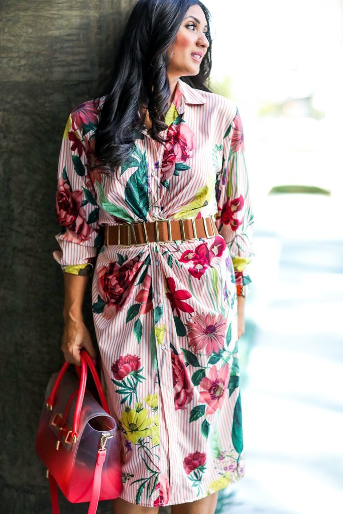 Spring Floral Dress for the Win by popular Orange County fashion blogger To Thine Own Style Be True