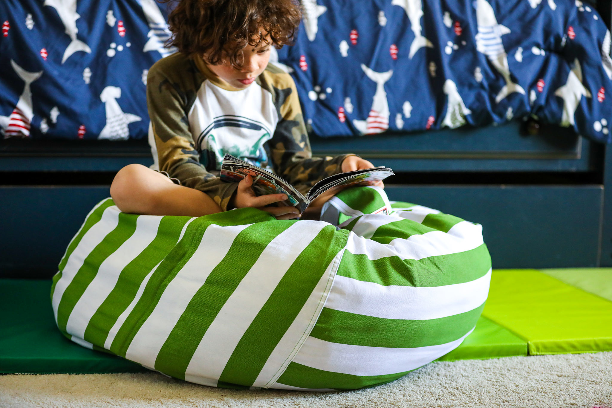 Perfect for Play and Storage: Stuffable Bean Bag