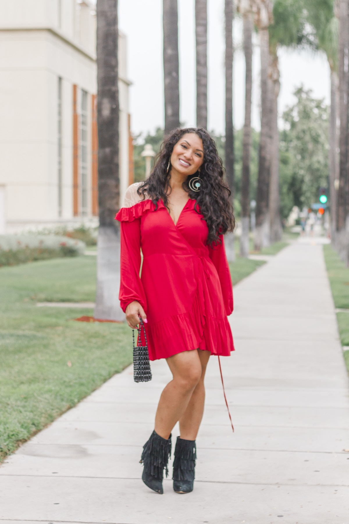 Little Red Dress | Debbie Savage Orange County Fashion Blogger at To Thine Own Style Be True