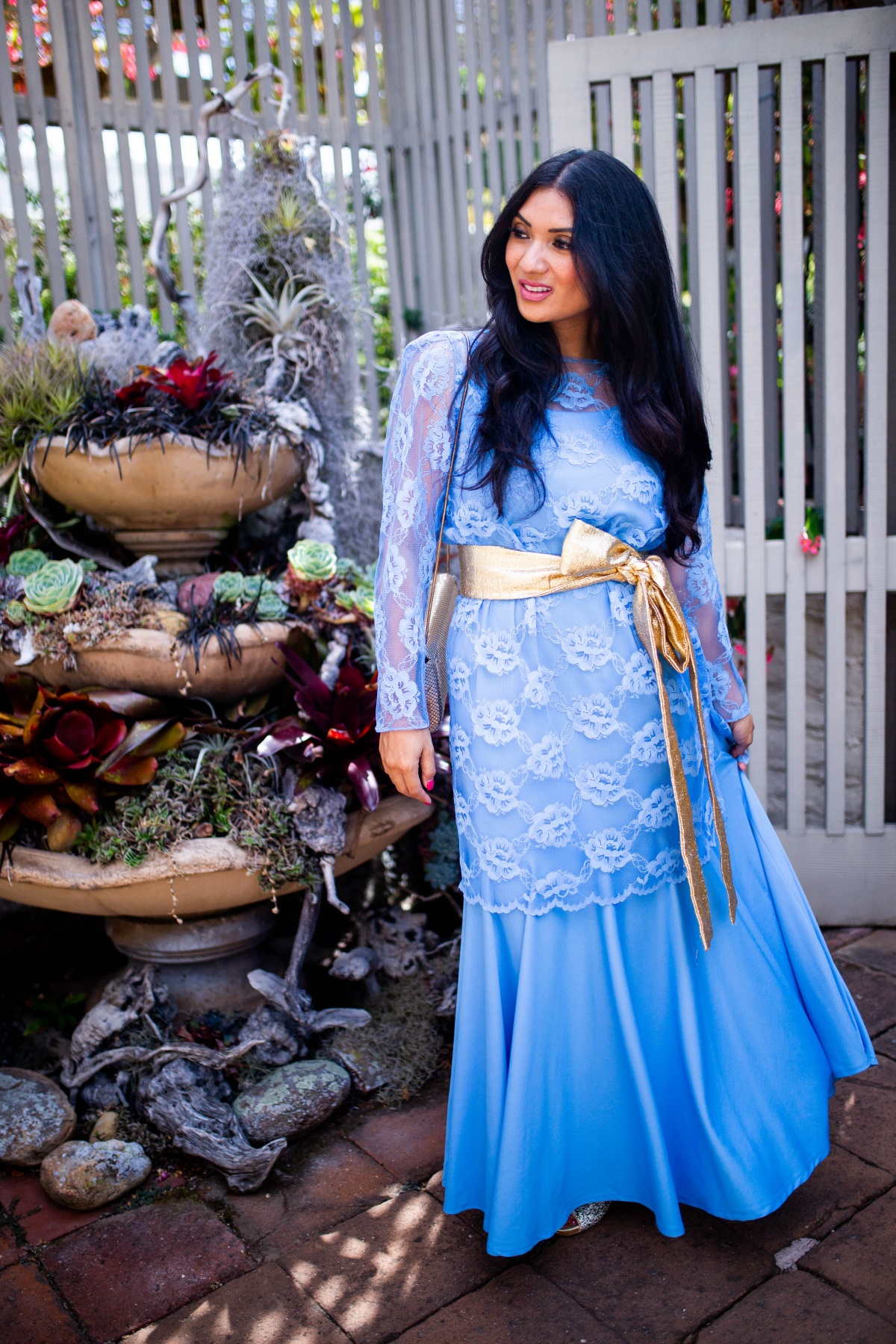 3 Alternative Ways to Shop for Clothes   Baby Blue Vintage Lace Dress   Debbie Savage Orange County Fashion Blogger of To Thine Own Style Be True