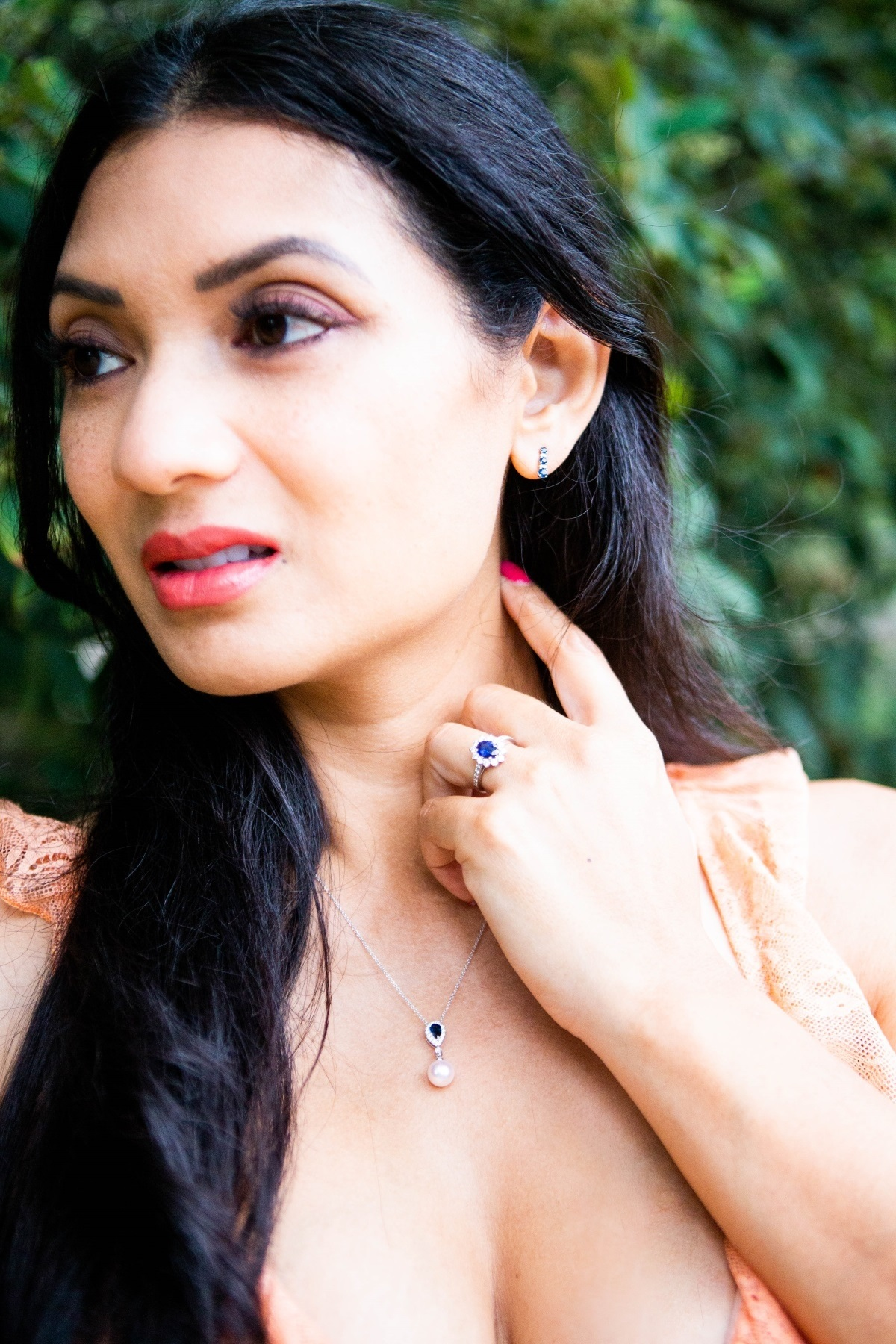 Fall Jewelry Trends with Blue Nile | Sapphire and Diamond Jewelry | Orange County Fashion Blogger Debbie Savage at To Thine Own Style Be True