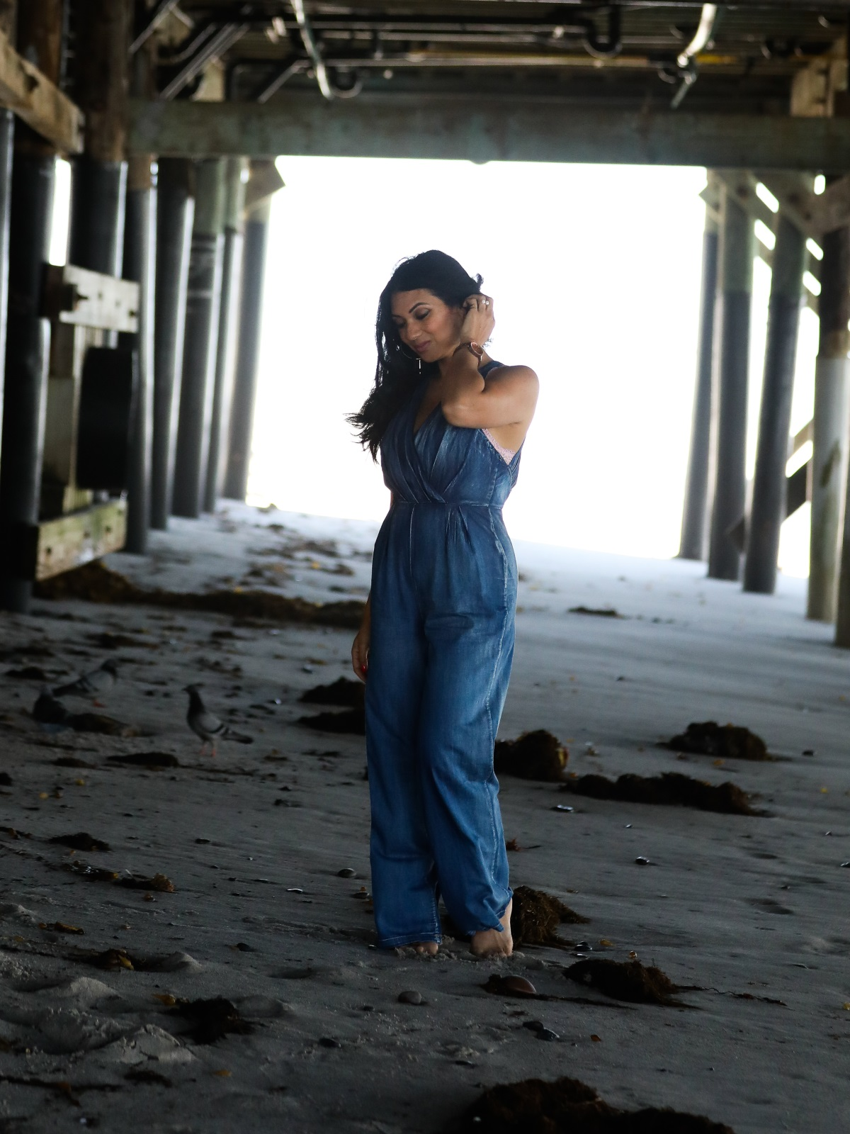 Denim Jumpsuit | Orange County Fashion Blogger Debbie Savage at To Thine Own Style Be True
