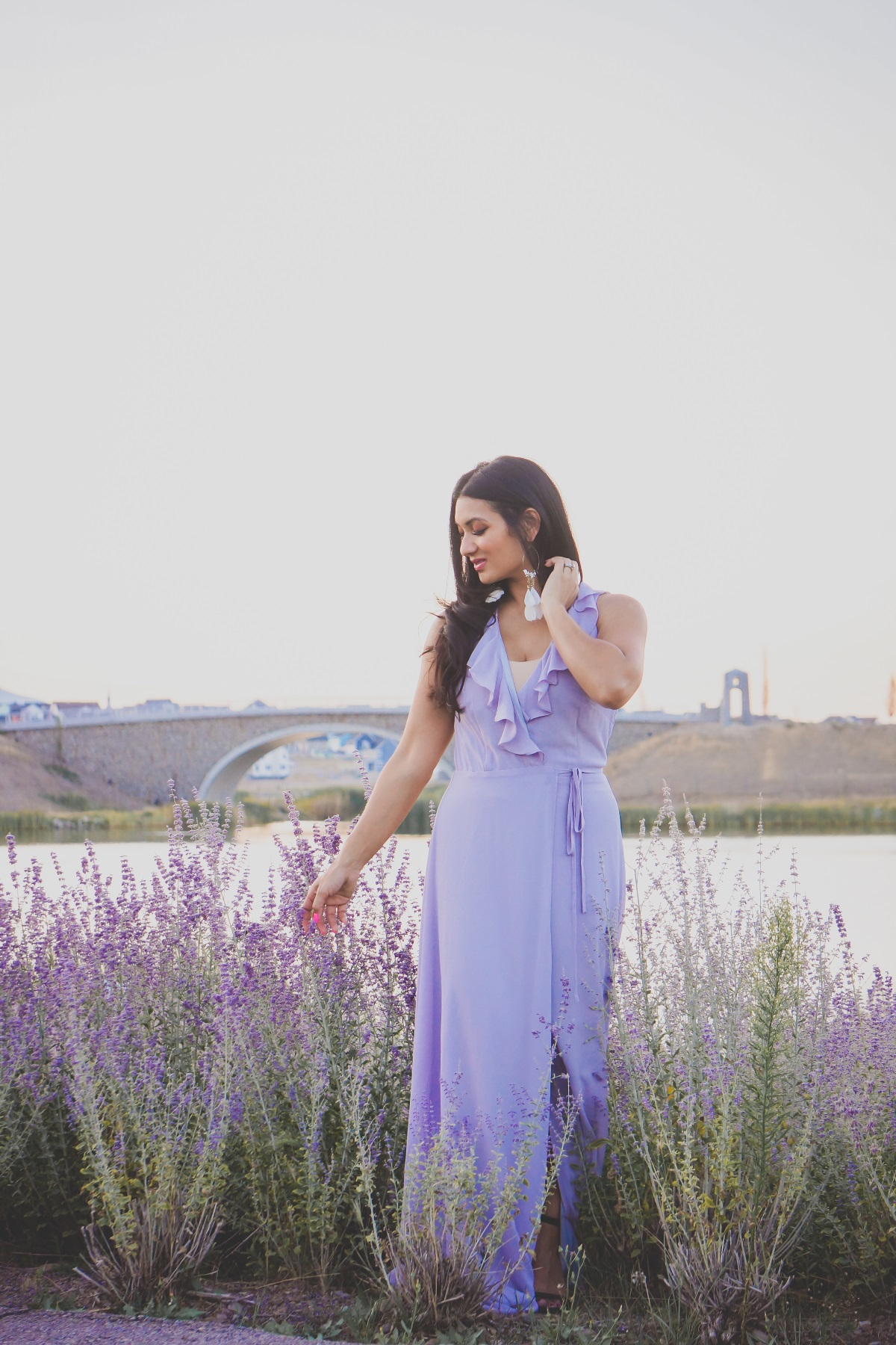 Lavender Fields | Tobi Lavender Wrap Dress | Debbie Savage Orange County Fashion Blogger of To Thine Own Style Be True