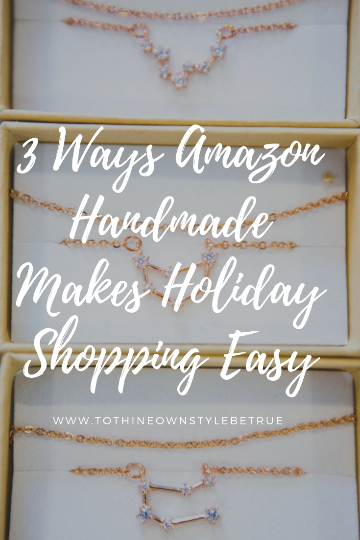 Bookmark this post ASAP! Orange County Blogger Debbie Savage is sharing why you should try Amazon Handmade ASAP to give the best gifts this holiday season!