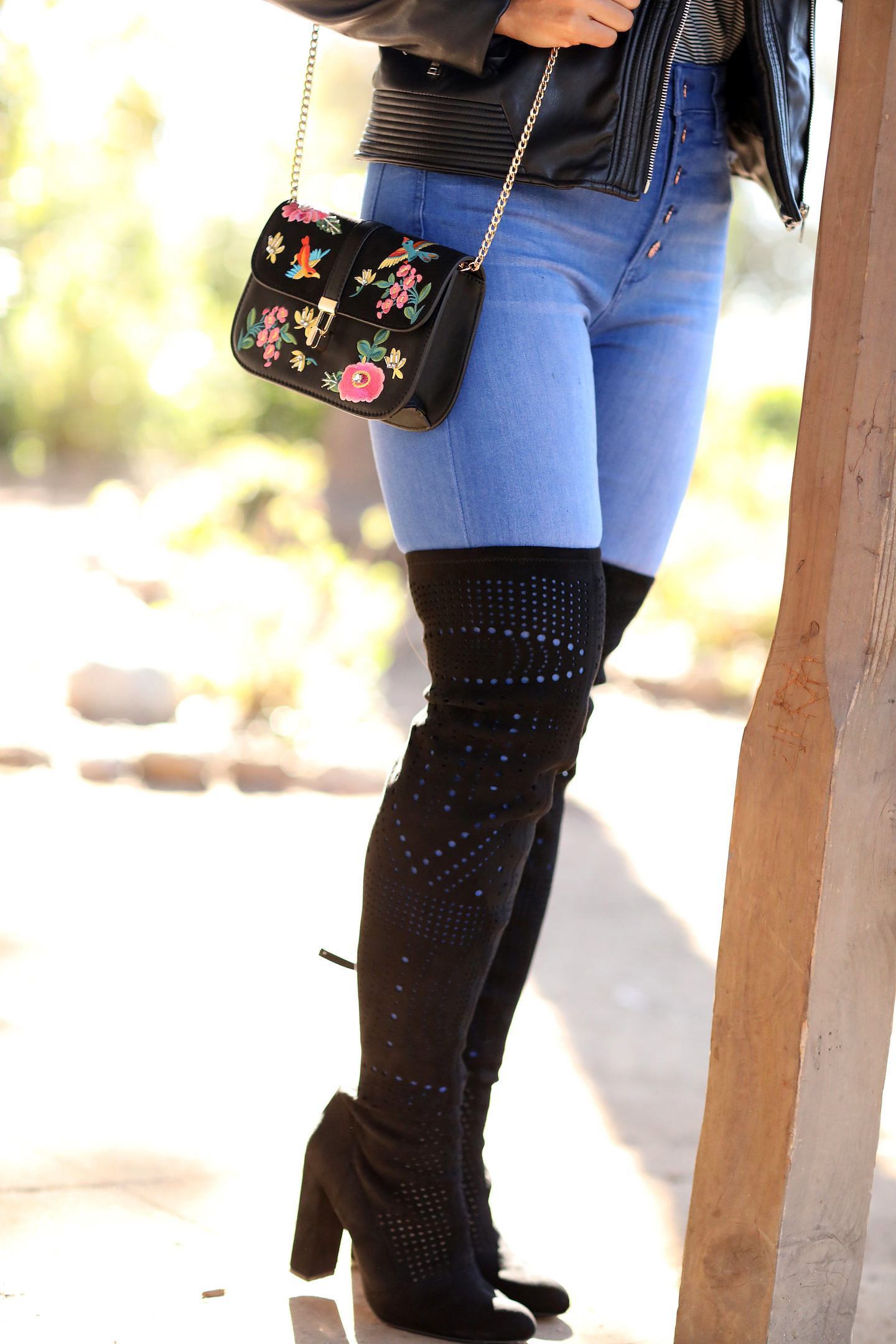Curious about the black OTK boots trend? Bookmark this post ASAP as Orange County Blogger Debbie Savage is sharing her top tips and tricks as to why you need to try this must have shoe trend ASAP! See why here!!
