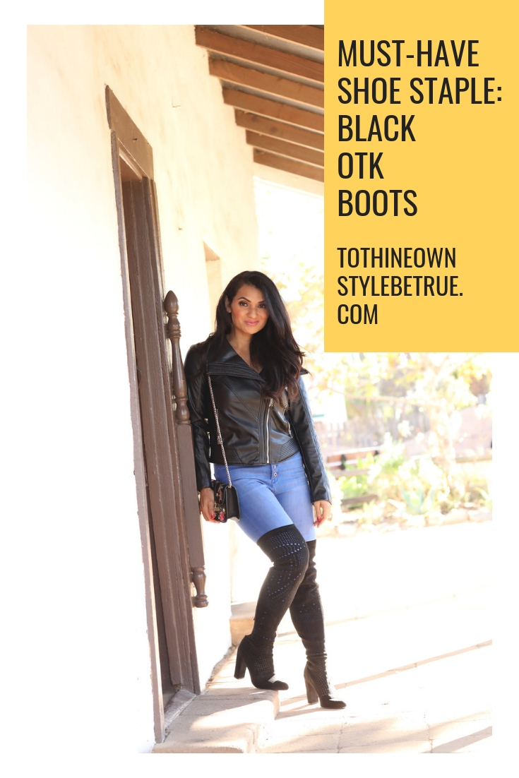 Looking for the perfect pair of Black OTK boots this season? Orange County Blogger Debbie Savage is sharing why you need to try this must have shoe staple ASAP here!