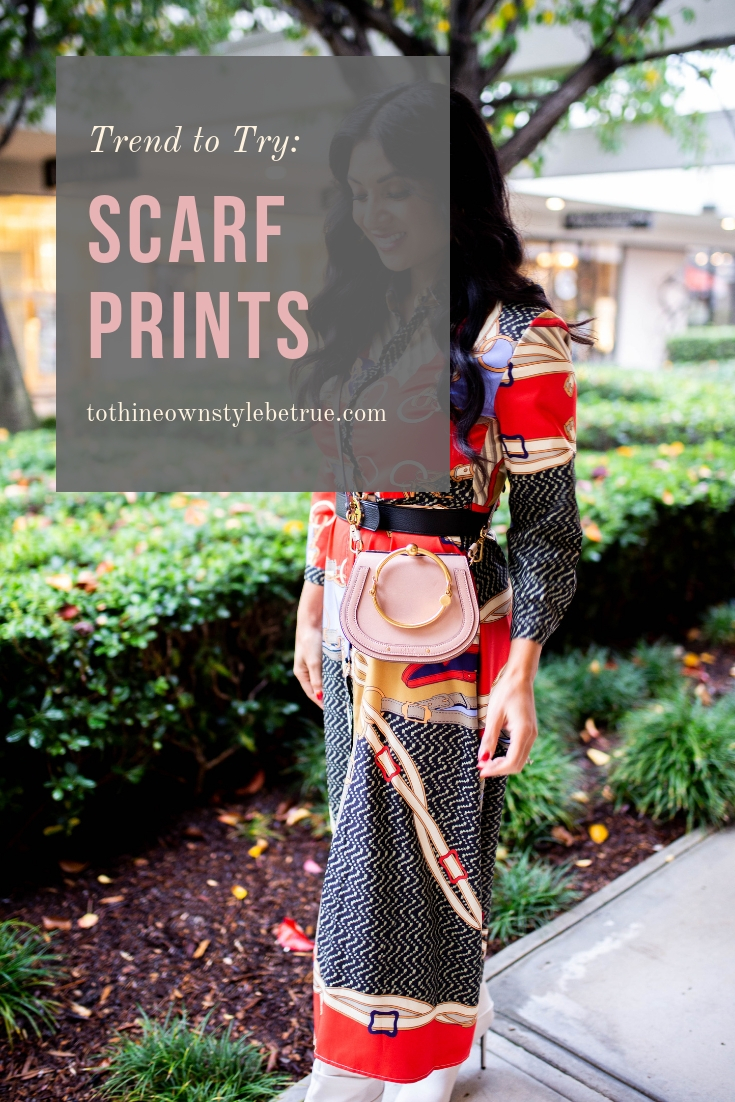 Curious how to style scarf prints? Orange County Blogger Debbie Savage is sharing her top tips and reasons why you should try scarf prints ASAP. See them here!