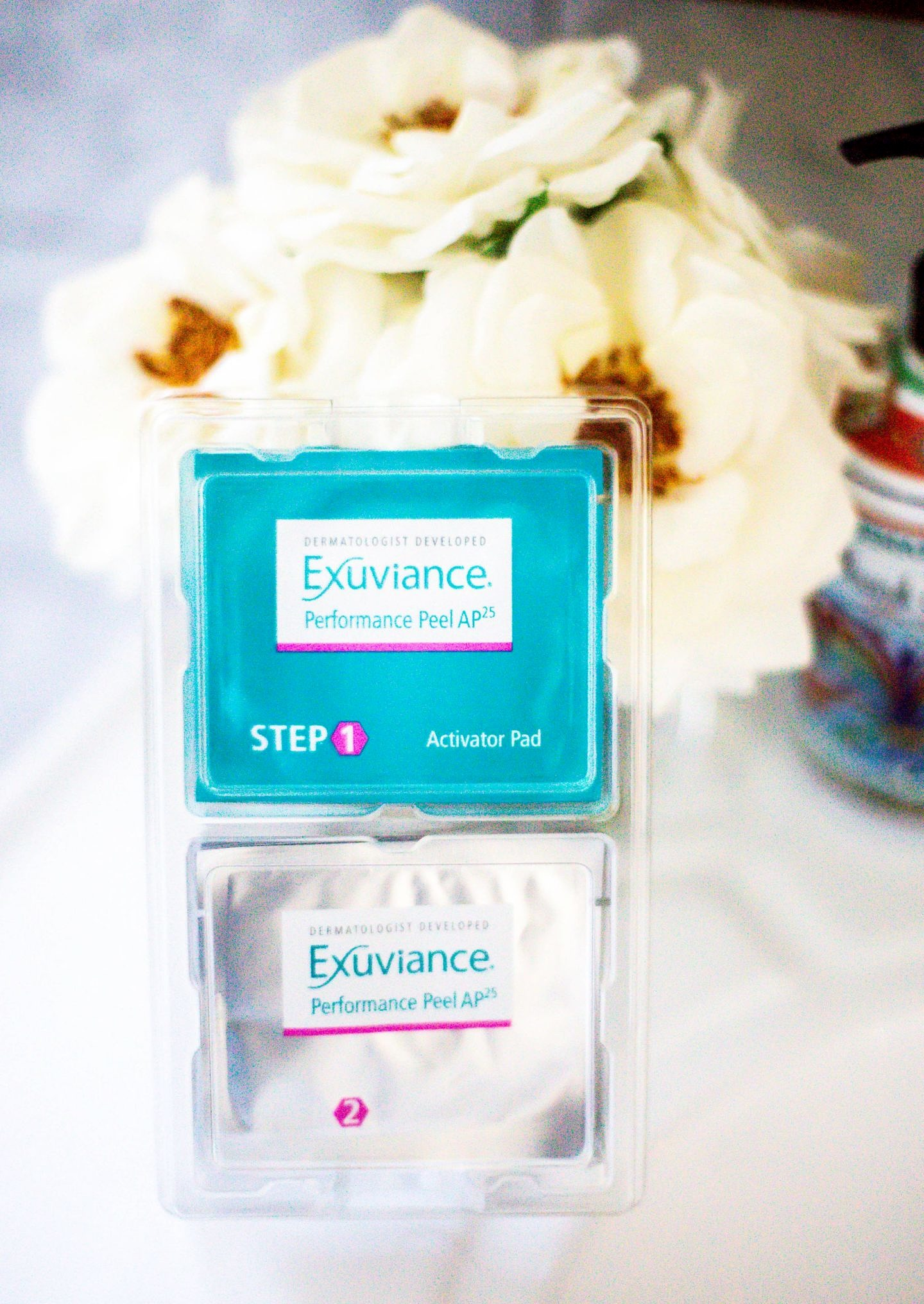 Looking for the perfect at home peel system? Orange County Blogger Debbie Savage is sharing her favorite at home peel system by Exuviance here! Click HERE to see why you need it ASAP! #ad #MyAHAPeel Challenge #PeelChallenge #Exuviance #MyAHAPeel