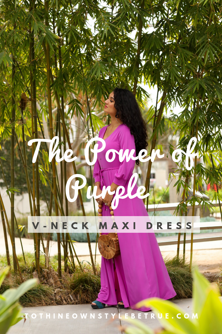 Curious what color you should be wearing this year? Orange County Blogger Debbie Savage is sharing why you should wear purple this year and how to style it.