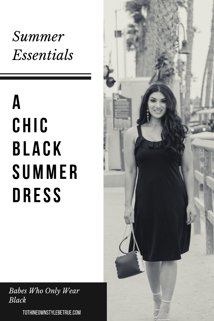 Looking for the perfect summer dress? Orange County Blogger Debbie Savage is sharing the perfect summer dress for those who only wear black. Click to see it HERE!