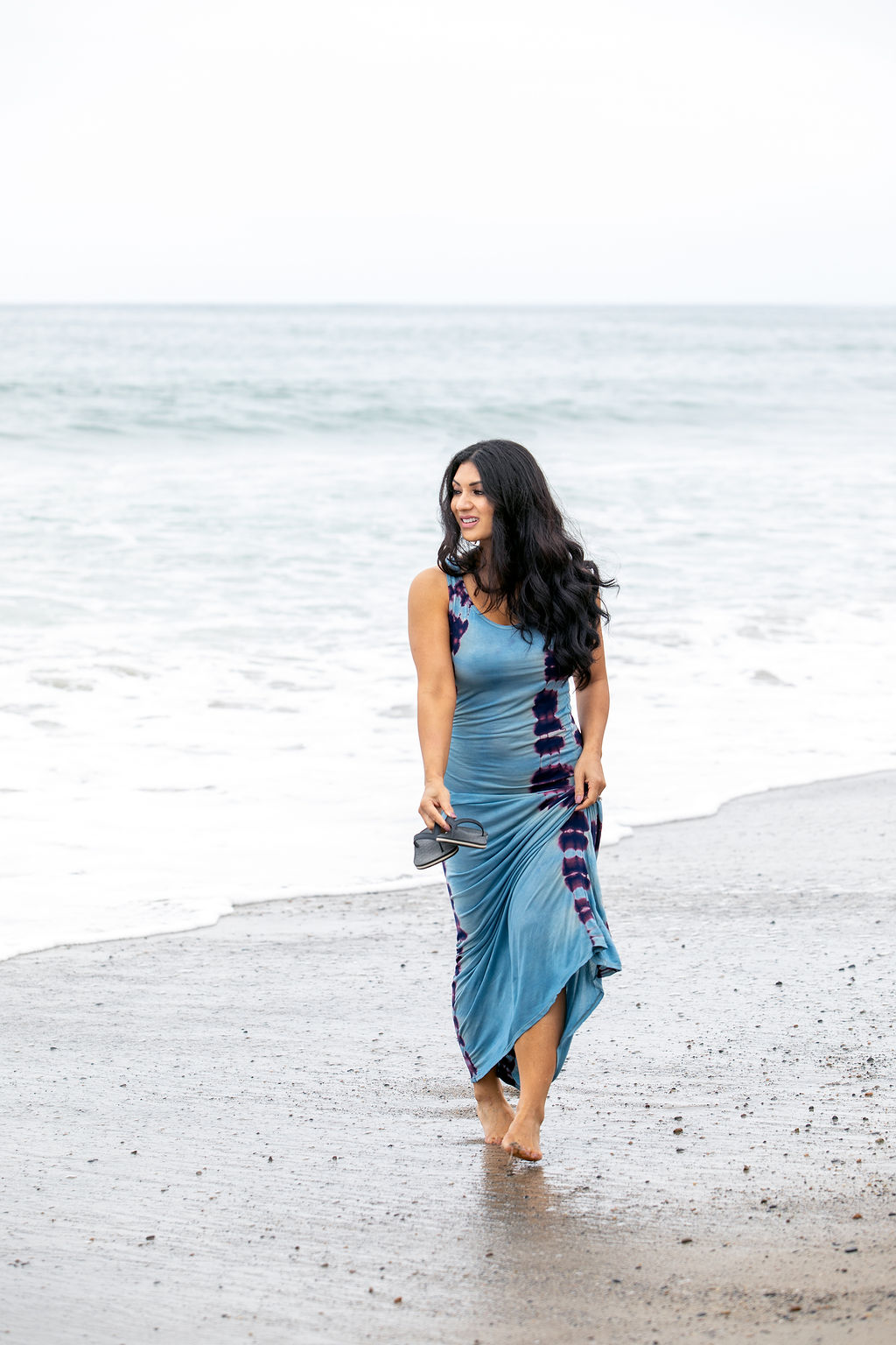 Totally Into Tie Dye Latest Summer Fashion Style Trends: Long Casual Maxi Dress
