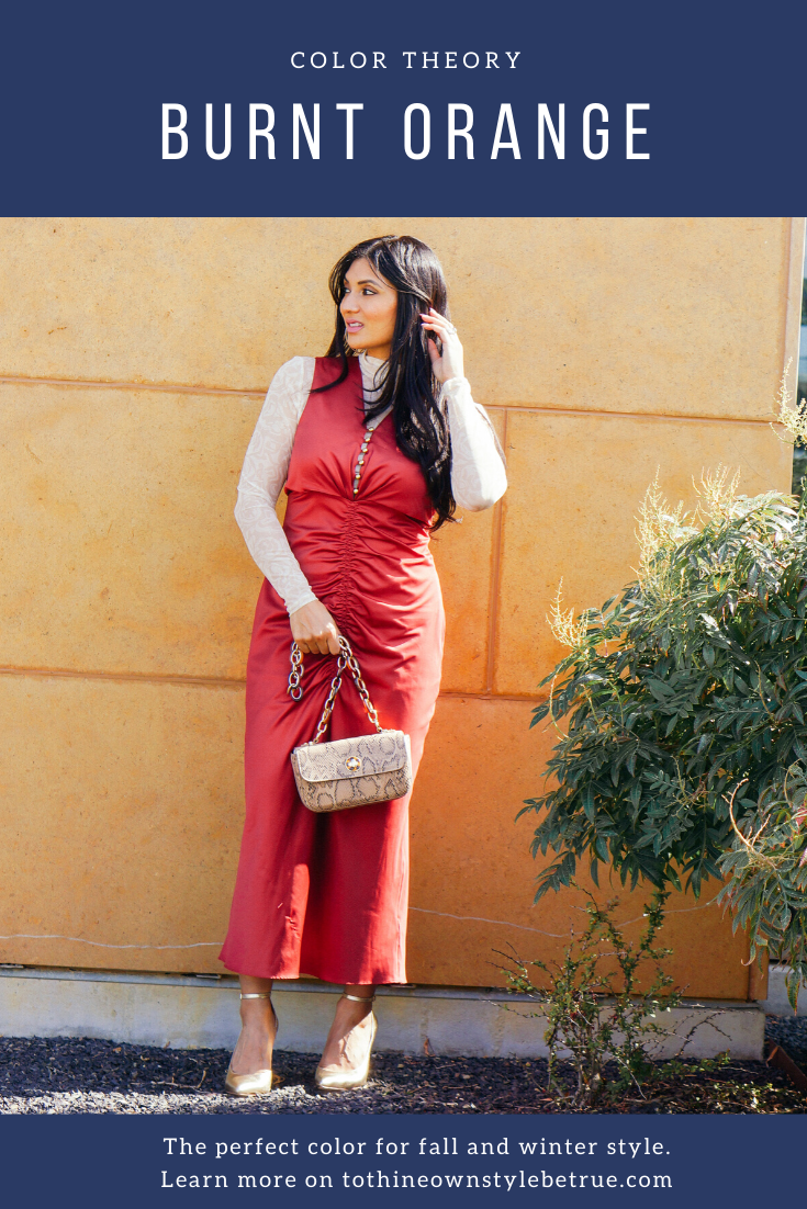 Curious about burnt orange for fall? Orange County Blogger Debbie Savage is sharing why you shoud try burnt orange for fall and winter here!