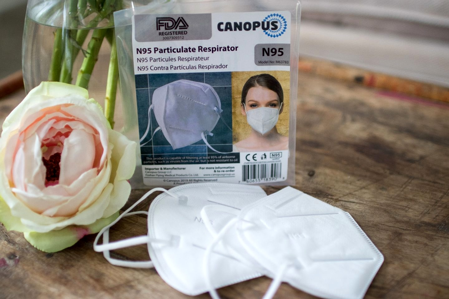 Canopus N95 Particulate Respirator Face Mask Made in the USA
