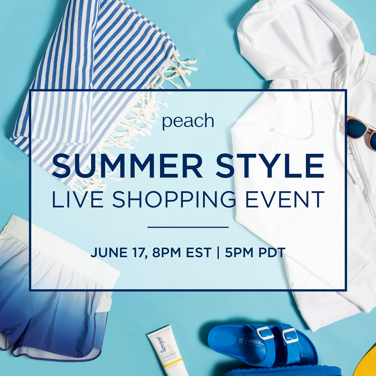 Peach Summer Style Live Shopping Event