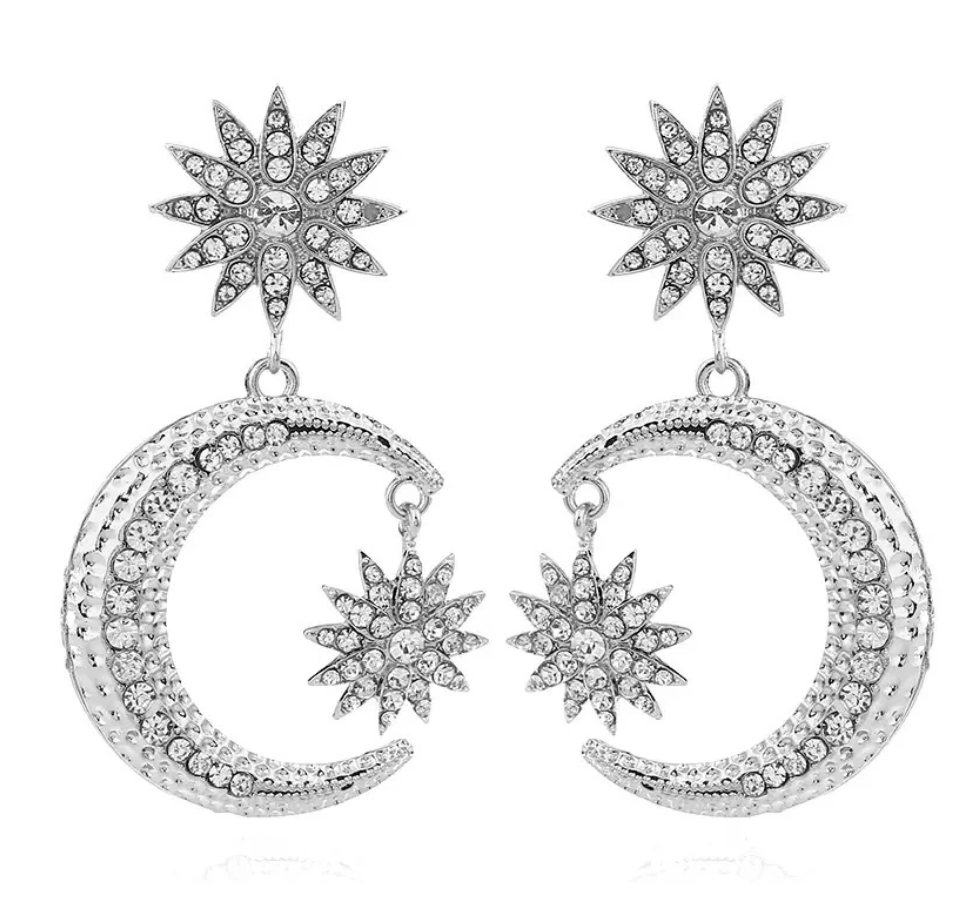 Heavenly Celestial Earrings | Rhinestone Accents | The Songbird Collection