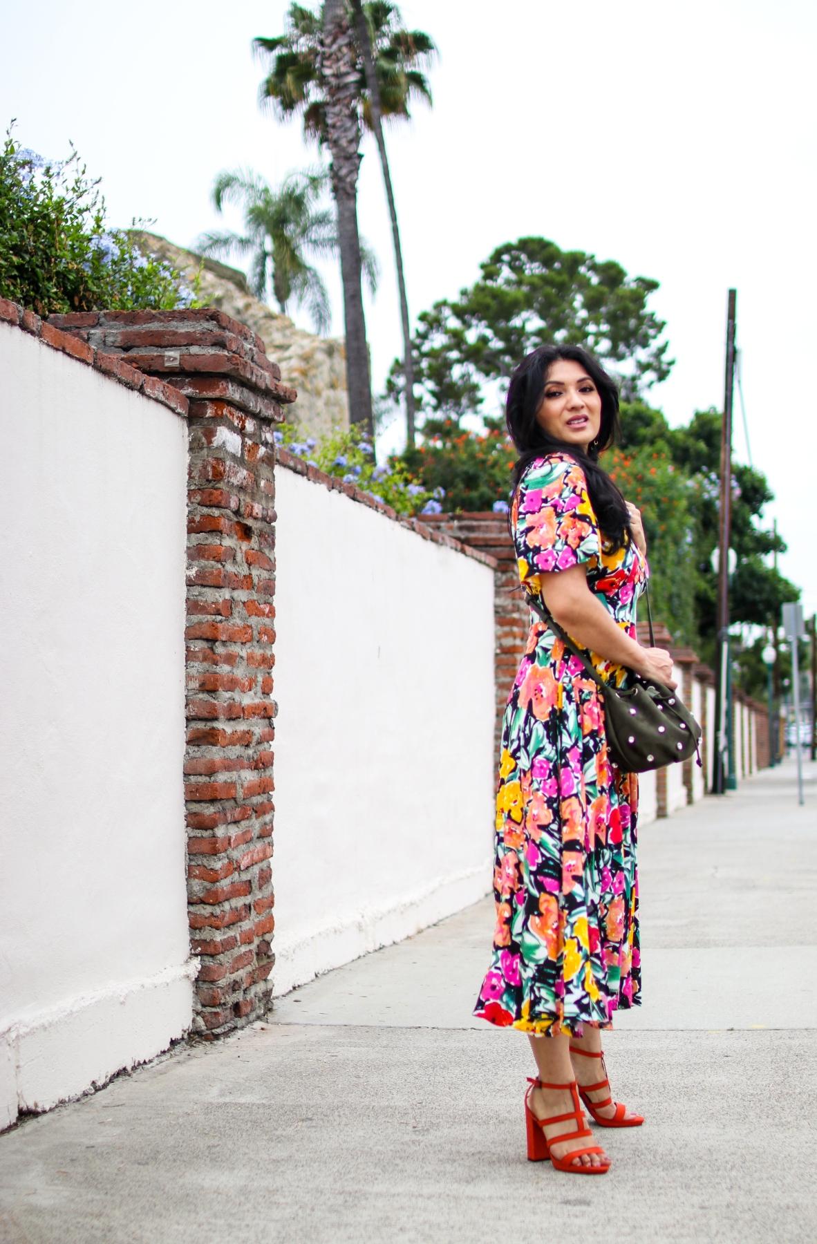 SHEIN BRIGHT FLORAL DRESS