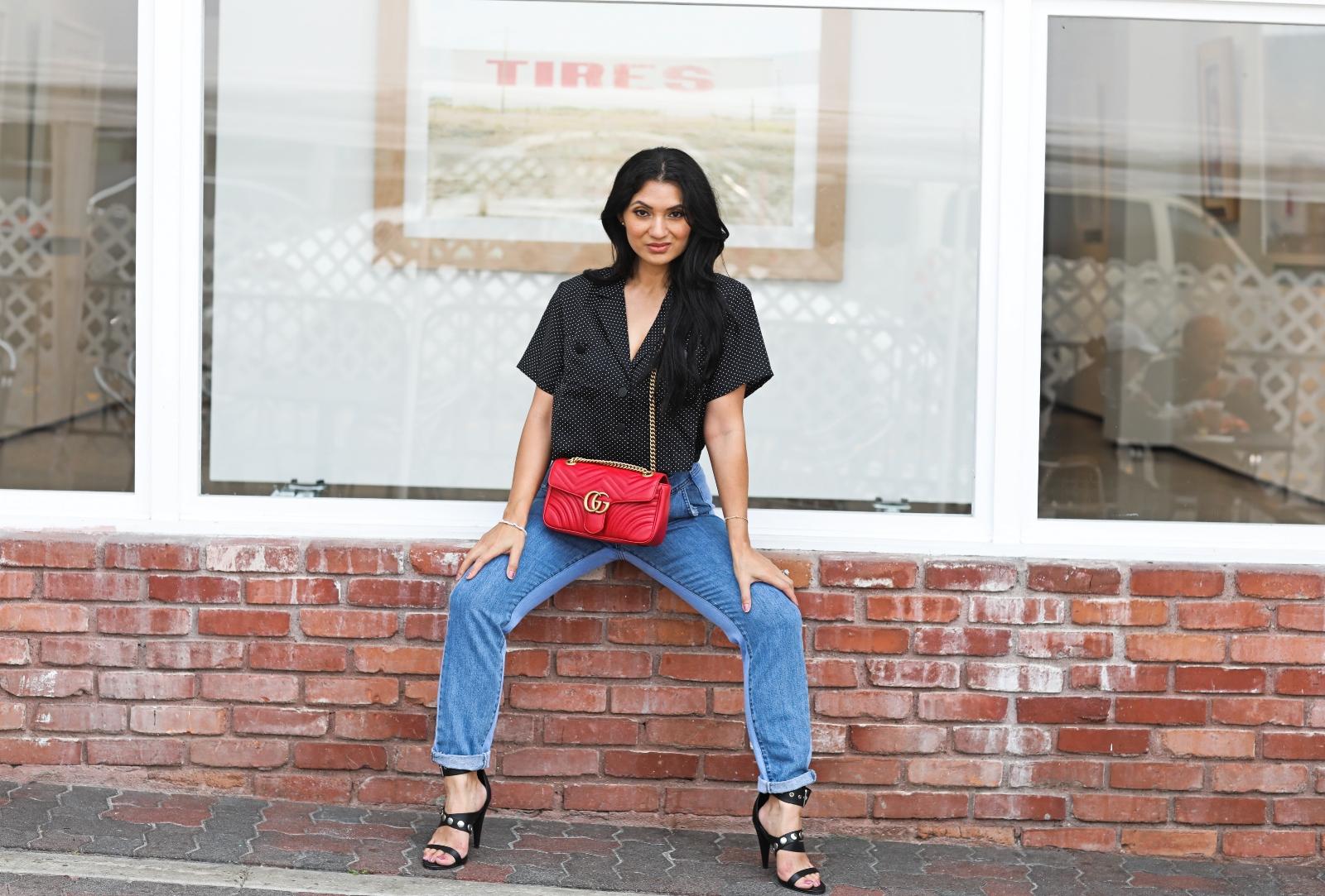 Debbie Savage Orange County California Fashion Blogger ALLSAINTS Manon Strappy Black Leather Heels