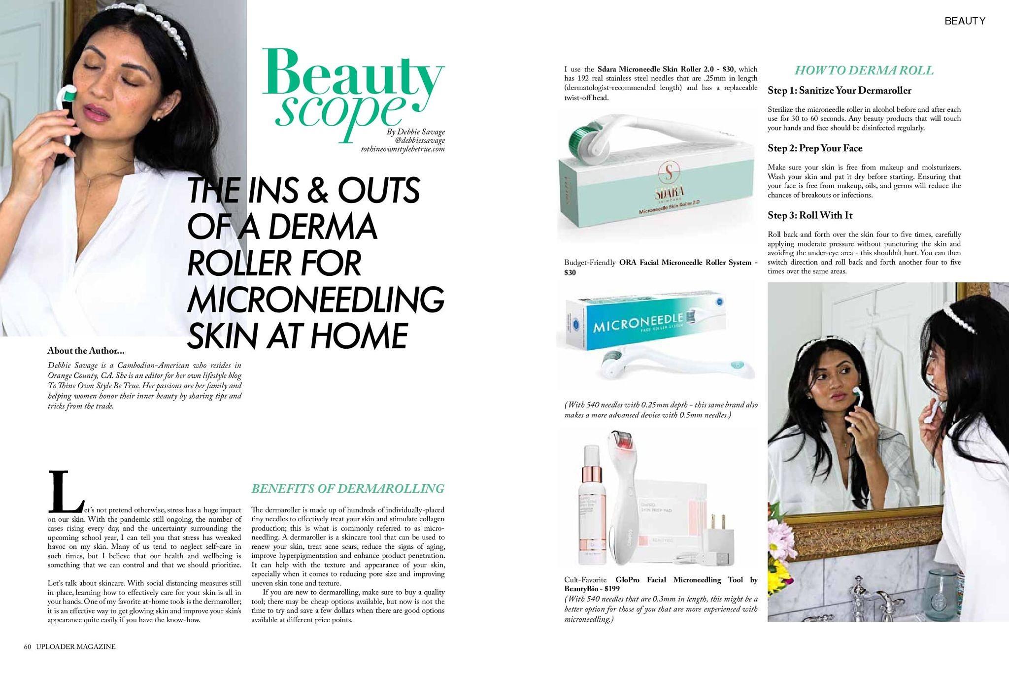 Debbie Savage Blog_Uploader Magazine August 2020 Beauty Scope