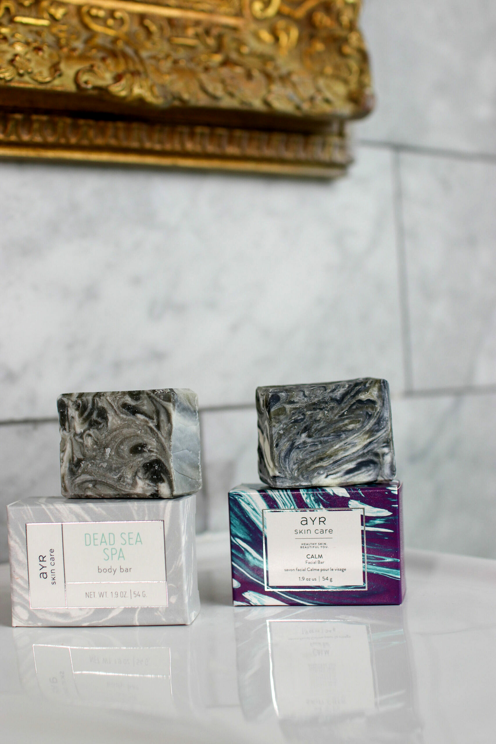 AYR Skincare Products | Organic and Carefully Sourced Natural Ingredients | Dead Sea Spa Body Bar and Calm Facial Bar
