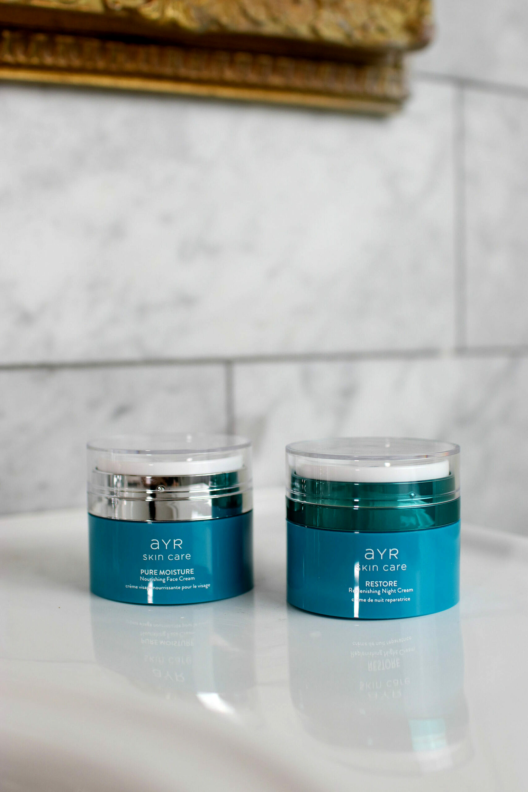 AYR Skincare Products | Organic and Carefully Sourced Natural Ingredients | Pure Moisture Nourishing Face Cream and Restore Replenishing Night Cream