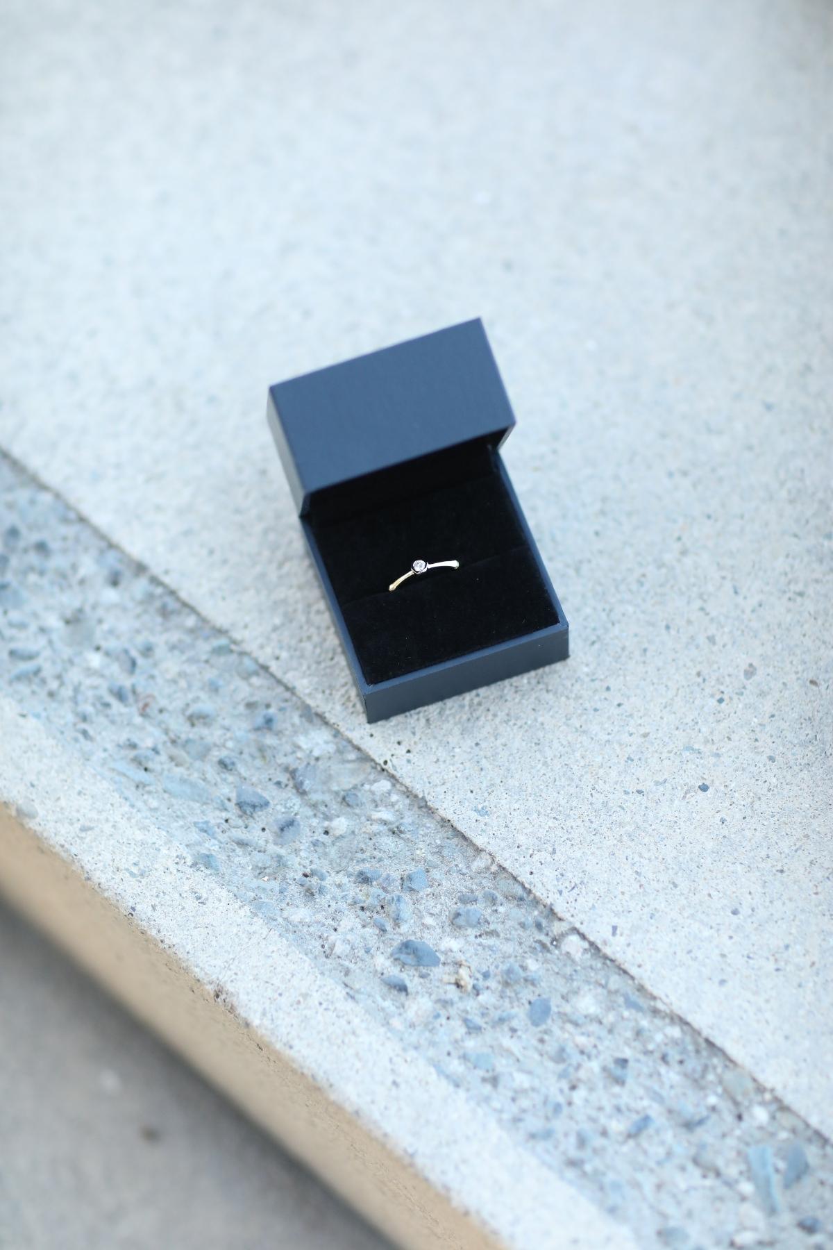 Natori x Angara Diamond Indochine Bamboo Ring