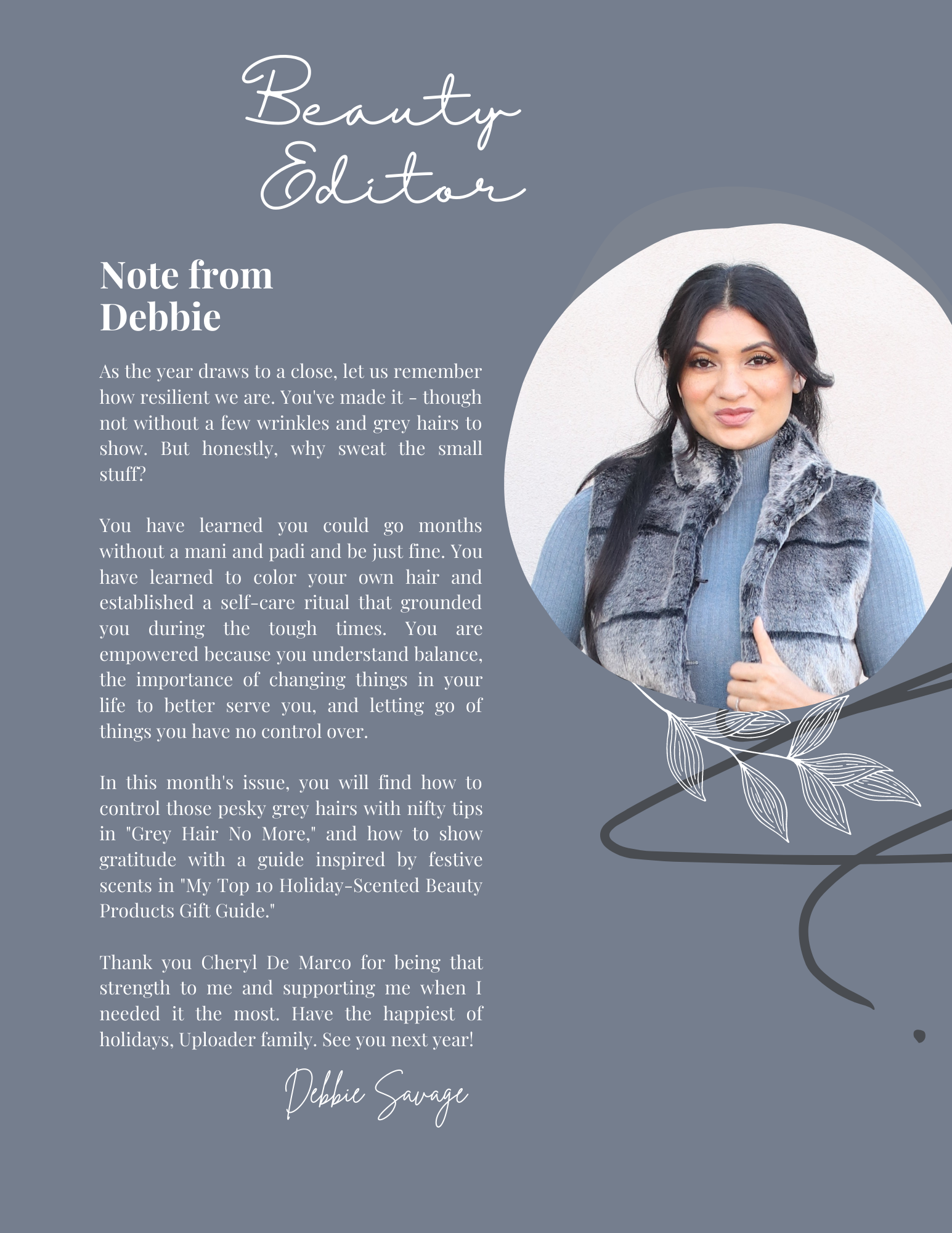 Uploader Magazine Debbie Savage Beauty Editor