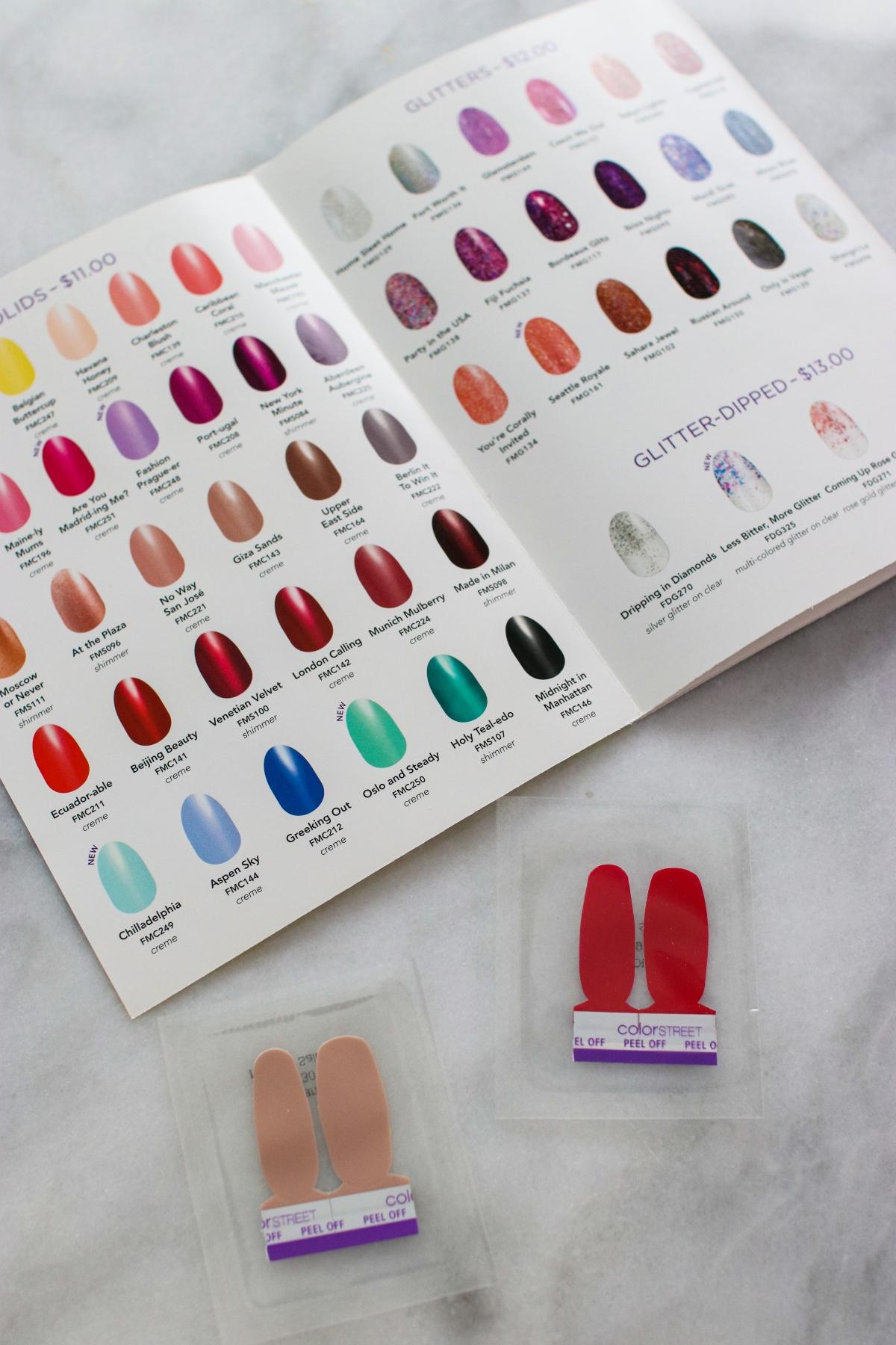 ColorStreet 100% Real Nail Polish Strips Catalog