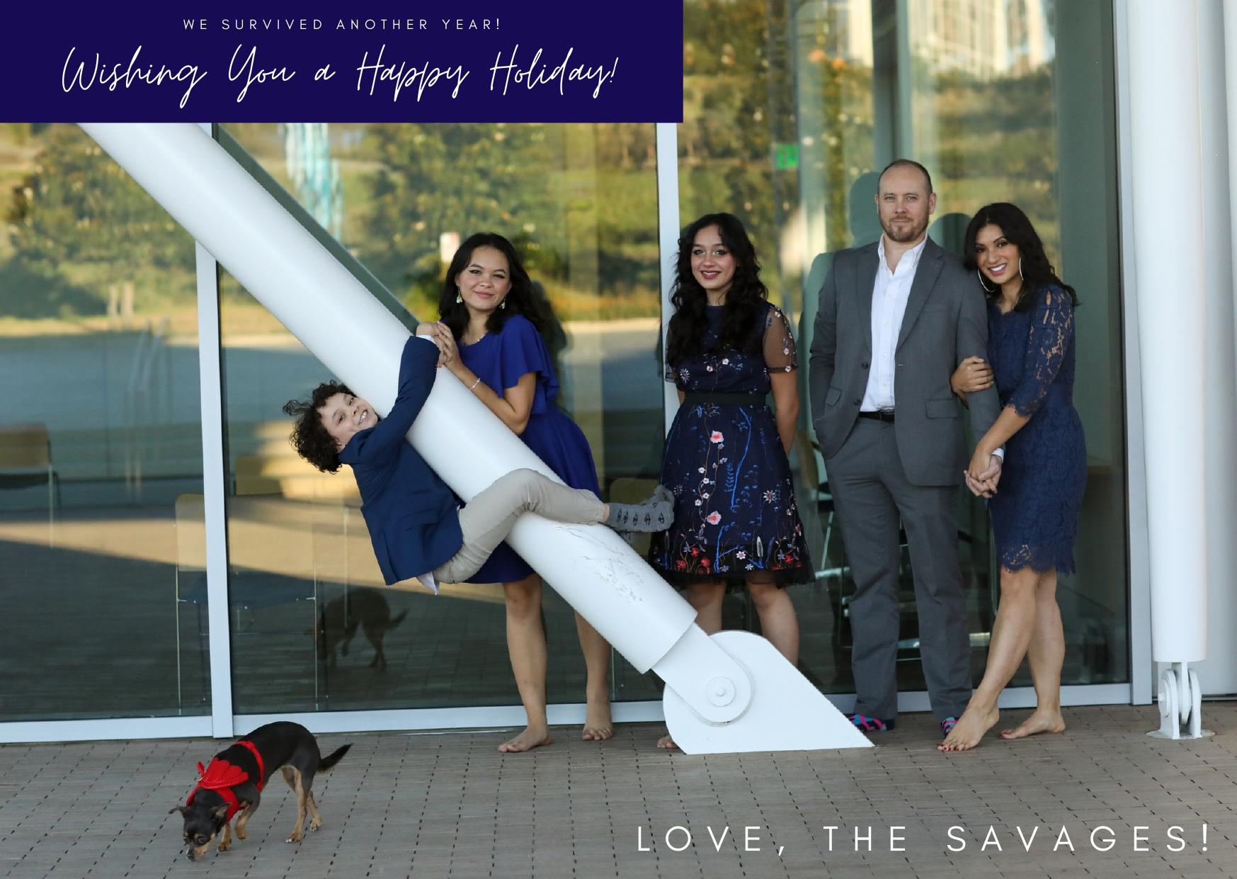Savage Family Holiday Card Front