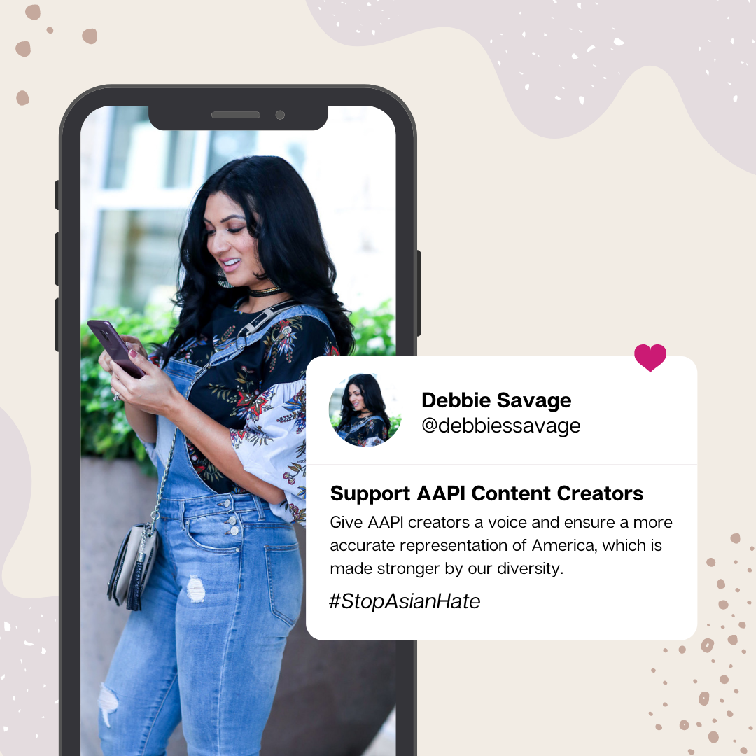 Debbie Savage Asian American Blogger AAPI Content Creator