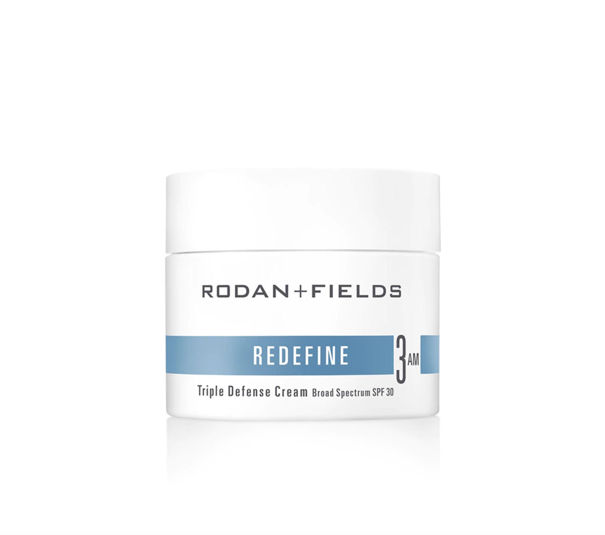 Rodan + Fields REDEFINE Triple Defense Cream Broad Spectrum SPF 30 | Debbie Savage Orange County Beauty and Lifestyle Blogger