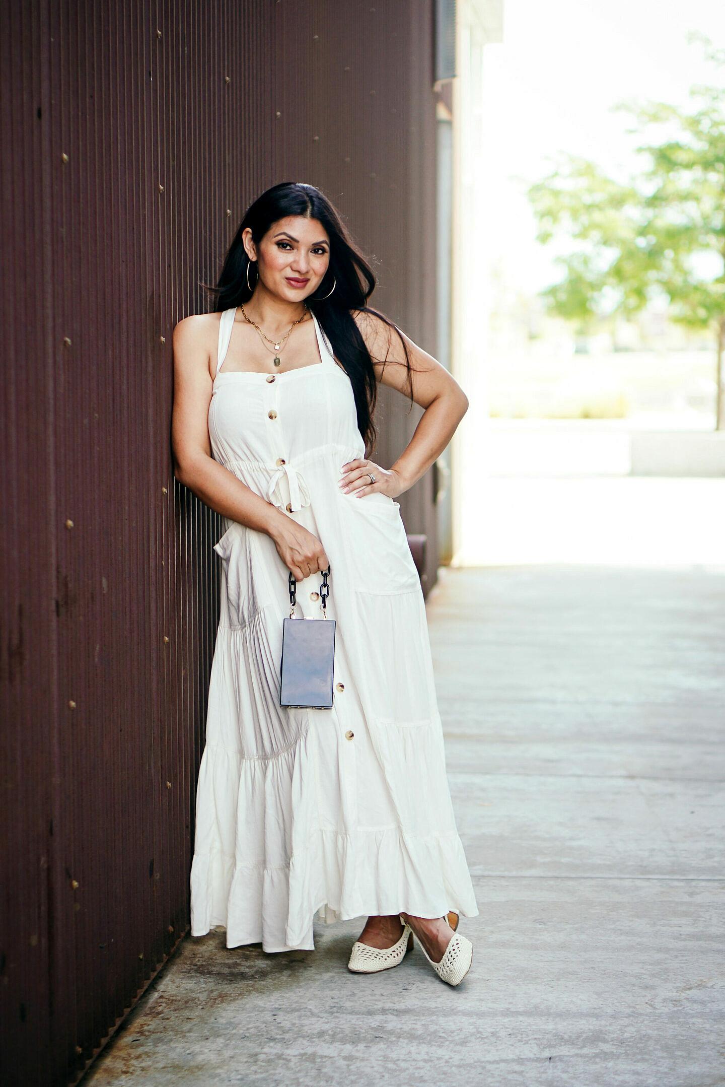 Lovestitch Boutique Good Vibration Linen Maxi Dress