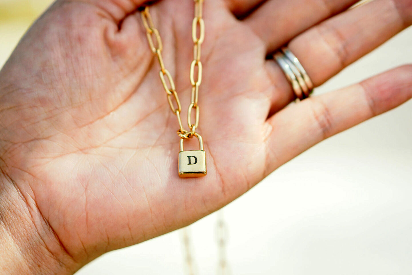 oNecklace Personalized Jewelry Lock Charm Necklace